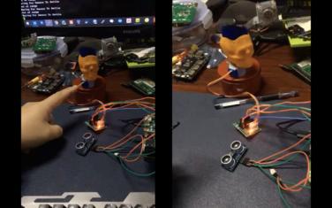 超声波展台原型