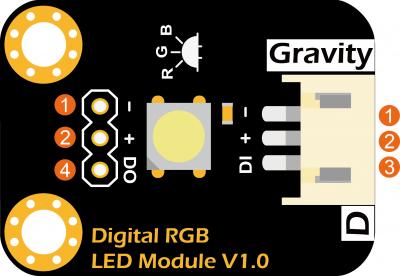 Gravity:RGB全彩LED模块 引脚说明