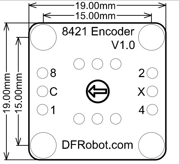 8421 Encoder-Vertical 尺寸图