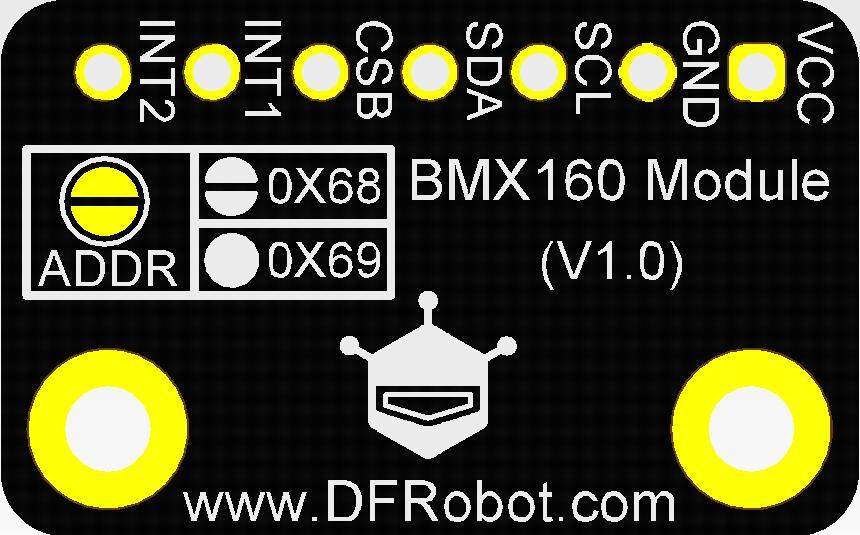 SEN0252传感器背面引脚说明