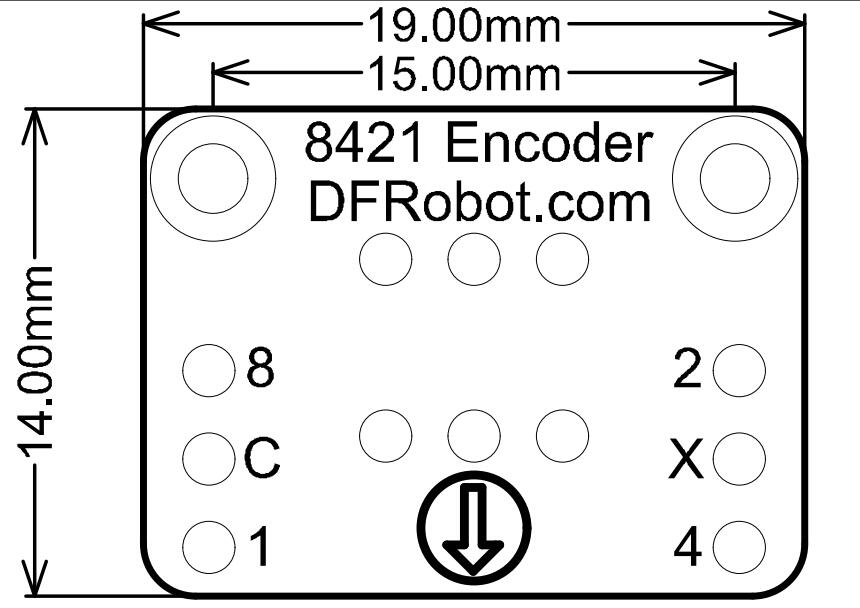 8421 Encoder-Horizontal 尺寸图