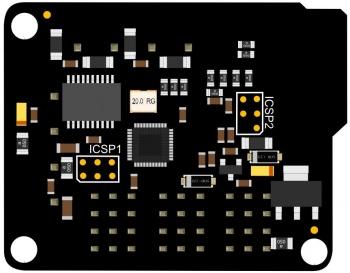 RoMeo BLE mini(V2.0)反面示意图