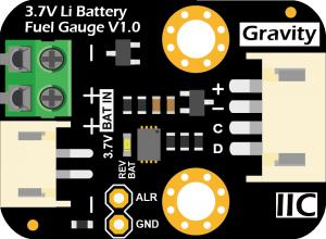 Gravity 3.7V锂电池电量计 引脚说明